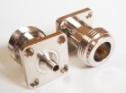 "N Flange Jack  connector  for RG402  0.141"" cable"