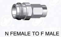 N  type female (75 ohm)  to F type male adapter 75 ohm