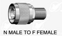 N type male (75 ohm) to F type  female adapter 75 ohm