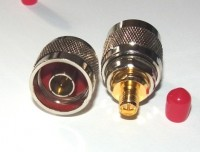N type  Plug (male) to RP-SMA socket  (pin) Adaptor