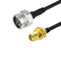 N (Male) - SMA  (female) LMR240 Times Microwave Cable RoHS