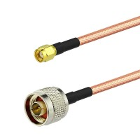 N male to RP- SMA male RG142 Mil-C17/60 Coaxial Cable