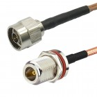 N bulkhead to N male RG142 Mil-C17/60 Coaxial Cable