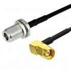 TIMES LMR195  Cable with N (F-BH) - SMA(M)-RA