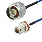 "N male to N female RG405 Habia 0.086"" Semi Flexiform Cable"