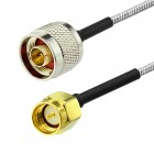 SMA male to N male RG402 0.141 Semi Flexible Cable