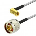 SMA male Right angle to N male RG402 0.141 Semi Flexible Cable